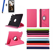 cheap -Case For Samsung Galaxy Tab A 8.0 with Stand Flip 360° Rotation Full Body Cases Solid Color Hard PU Leather for
