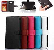 Недорогие -Для Samsung Galaxy S7 Edge Кошелек / Бумажник для карт / со стендом / Флип Кейс для Чехол Кейс для Один цвет Искусственная кожа SamsungS7