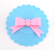 1 Piece Cute Novelty Gift Soft Silicon Bottle Cup Mug Lid Cover Anti-dust Bowknot(Random Color)
