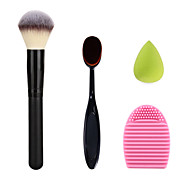 макияж зубной крем-пудра румяна щетка чистки Щетка для мытья яйцо и зеленый маленький размер макияж губка