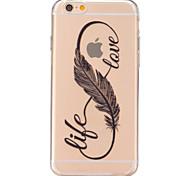 economico -Per iPhone 6 iPhone 6 Plus Custodie cover Transparente Custodia posteriore Custodia Piume Morbido TPU per iPhone 7 Plus iPhone 7 iPhone