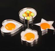 4pcs / lot de acero inoxidable huevos de dispositivos molde tortilla de herramientas cuatro estilos