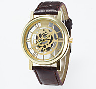 cheap -2016 New Arrival Fashionable Imitation Mechanical Wristwatch Unisex Watches Skeleton dial Leisure Wristwatch Cool Watches Unique Watches