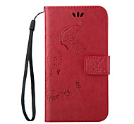 cheap -Case For Samsung Galaxy Samsung Galaxy Case Card Holder Wallet with Stand Flip Full Body Cases Butterfly PU Leather for Trend Lite On 7