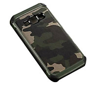 cheap -Case For Samsung Galaxy Samsung Galaxy Case Shockproof Back Cover Camouflage Color PC for J7 J5 J2 J1