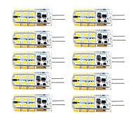 G4 LED Bi-pin Lights T 81 SMD 2835 260 lm Warm White Cold White 3000/6000 K Dimmable AC 220-240 DC 12 AC 12 V 10pcs