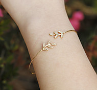 cheap -Women's Cuff Bracelet Fashion Simple Style European Alloy Leaf Jewelry Christmas Gifts Daily Casual Costume Jewelry