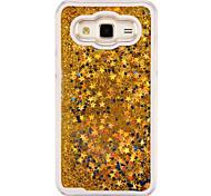 cheap -Case For Samsung Galaxy Samsung Galaxy Case Flowing Liquid Back Cover Glitter Shine PC for J5 J1 Ace J1 Grand Prime Core Prime