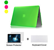 "cheap -Case for Macbook Air 11.6""/13.3"" Solid Color ABS Material New Matte Plastic Full Body Case + TPU Keyboard Cover + Screen Protector"