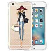 cheap -Case For Apple iPhone X iPhone 8 iPhone 6 iPhone 6 Plus Shockproof Transparent Back Cover Sexy Lady Soft Silicone for iPhone X iPhone 8
