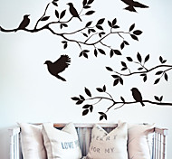 Evelle Had 8208 New Branches Birds Bedroom Living Room Wall Paper Wholesale Custom Hand Carved Background