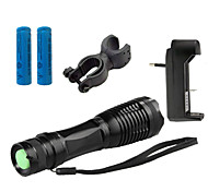 ZK10 LED Flashlights / Torch LED 4000 lm 5 Mode Cree XM-L T6 Adjustable Focus Impact Resistant Nonslip grip Rechargeable Waterproof