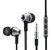 металлический бас стерео наушники наушники наушники с микрофоном для iphone Samsung Xiaomi mp3-плеер
