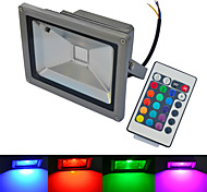 cheap -6000-6500/3000-3200 lm LED Floodlight 1 leds COB Waterproof Remote-Controlled Warm White Cold White RGB AC 85-265V