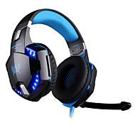 Недорогие -KOTION EACH Над ухом Головная повязка Проводное Наушники пластик Игры наушник С регулятором громкости С микрофоном Шумоизоляция Светящийся