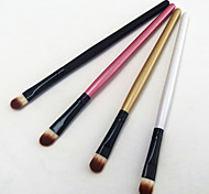 4PCS Professional Multi-color Wood Handle Aluminum Tube Nylon Hair Eyeshadow/Eyebrow Brush Set(13cmx4)