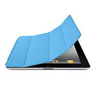 Недорогие -Кейс для Назначение iPad 4/3/2 Один цвет Folio Case Авто Режим сна / Пробуждение Особый дизайн Кожа PU для