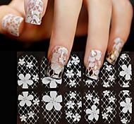 Цветы-3D наклейки на ногти-Пальцы рук-14cm*6cm-1sheet-ПВХ
