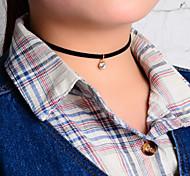 Недорогие -Жен. форма Тату-дизайн Простой стиль европейский Ожерелья с подвесками Татуировка Choker Кристалл Ткань Ожерелья с подвесками Татуировка