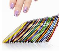 Недорогие -10 Стикер искусства ногтя Руководство Советы Французский 3D наклейки на ногти Абстракция макияж Косметические Nail Art Design