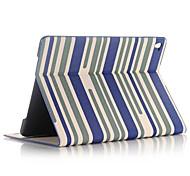 Недорогие -Кейс для Назначение со стендом С функцией автовывода из режима сна Чехол Полосы / волосы Кожа PU для iPad Pro 9.7''