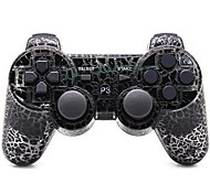 Bluetooth Controles para Sony PS3 Bluetooth Empuñadura de Juego Recargable Inalámbrico 19-24h