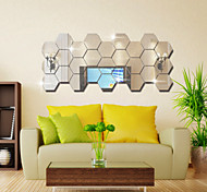 cheap -Decorative Wall Stickers - Mirror Wall Stickers Fashion / Fantasy / 3D Living Room / Bedroom / Dining Room / Washable / Removable