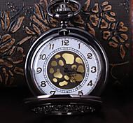 Недорогие -Муж. Карманные часы Кварцевый сплав Группа Цветы Черный