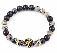 cheap -New Arrival Stone Lion Head Bracelet Strand Bracelets Daily / Casual 1pc Christmas Gifts