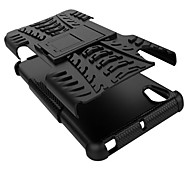 For Sony Case PC + Silicone Shield Stand Rugged Tire Case Armor Back Cover Anti Shock For Sony Xperia X / XA / X Performance / C5 Ultra / E5