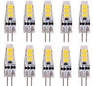 abordables -YWXLIGHT® 10pcs 2W 200 lm G4 Luces LED de Doble Pin T 6 leds SMD 5730 Decorativa Blanco Cálido Blanco Fresco DC 12V