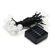 cheap -30-LED Solar Power Decoration White Light LED String Light