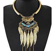 cheap -Women's Alloy Statement Necklace - Synthetic Gemstones Alloy Tassel Fashion European Circle Necklace For