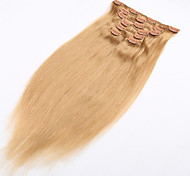 клип на наращивания волос натурального человеческого волоса мягкого бразильском продукта волос с зажимом в - 20 доступных цветов