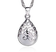 cheap -Women's Sterling Silver Silver Pendant Necklace  -  Fashion Jewelry White Pink Necklace For Gift Daily Casual