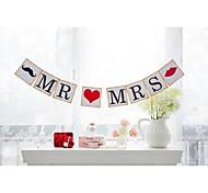 abordables -Mariage / Fiançailles / Enterrement de Vie de Jeune Fille Papier cartonné Décorations de Mariage Thème plage / Thème jardin / Thème floral