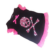 Недорогие -Собака Футболка Одежда для собак Черепа Сердца Черный Костюм Для домашних животных