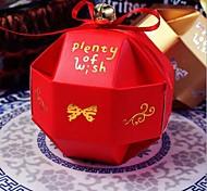 10pcs Chinoiserie полая коробка конфет свадьба способствует подарочные пакеты с лентой