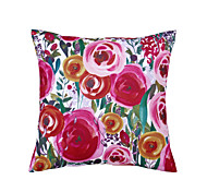 Polyester Pillow With Insert,Floral Retro 18x18 inch