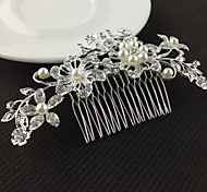 cheap -Women's Floral Elegant & Luxurious Crystal Imitation Pearl Imitation Diamond Hair Comb