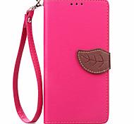 Для Кейс для LG Бумажник для карт / Кошелек / со стендом / Флип Кейс для Чехол Кейс для Один цвет Твердый Искусственная кожа LGLG K10 /