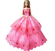 Prinzess-Linie Kleider Für Barbie-Puppe Kleider Für Mädchen Puppe Spielzeug