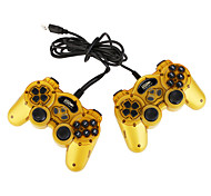 USB Double Vibration Controller for PC Yellow