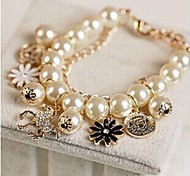 New Arrival Imitation Pearl Flower Strand Bracelets Daily / Casual 1pc Hot Sale
