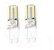 cheap -Zweihnder 2pcs 2.5W 50-100 lm G9 LED Bi-pin Lights C35 64 leds SMD 3014 Decorative Warm White AC 220-240V