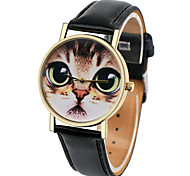 Cat Face Watch,Women Watches,Leather Watch,Men's Watch ,Ladies Watch, Silver Gold Rose Watch,Unique Watches,Gift Cool Watches Unique Watches