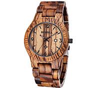 BEWELL ® Men's Fashion Unique Zebra Maple Watch with Calendar Display Quartz Wrist Watches Fashion Relogio Masculino Cool Watch Unique Watch