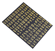 cheap -1x 108 PCS 3D Gold Flowers Nail Art Stickers Decals For  Nail Art Stickers
