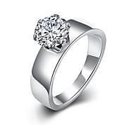 Недорогие -Классические кольца Массивные кольца Кольцо Циркон Цирконий Мода Богемия Стиль Регулируется обожаемый Кисточки Белый БижутерияСвадьба Для