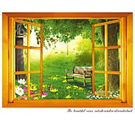 Натюрморт / Мода / Цветы / Пейзаж / Винтаж Наклейки Простые наклейки,PVC 70*50*0.1
